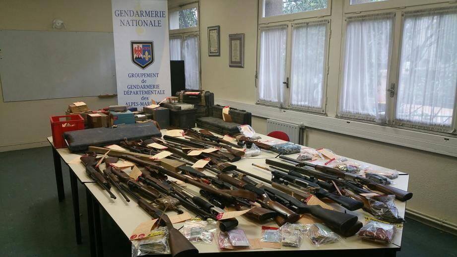 Gréolières, six cents habitants et deux marchands d'armes bien approvisionnés comme ont pu le constater les gendarmes.(DR)