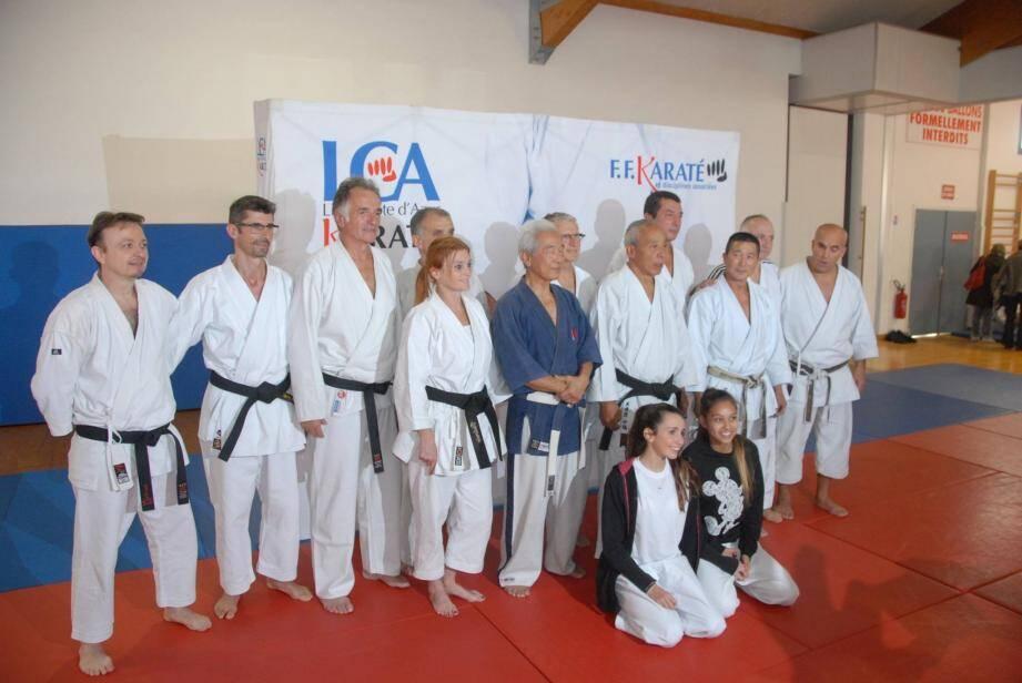 Plusieurs sommités de la discipline ont encadré ce stage pugétois avec le club du Grand Samouraï.