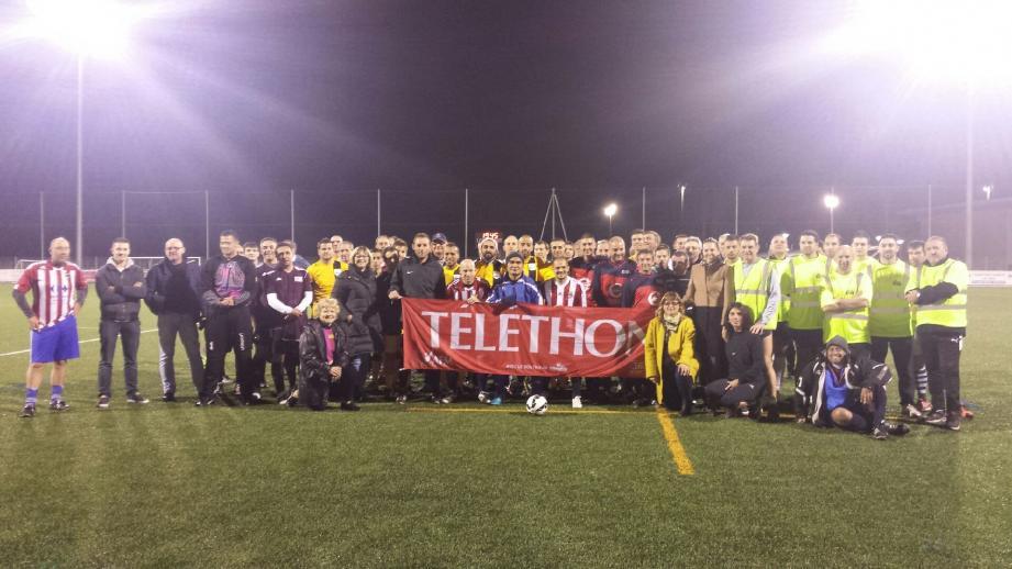 Plus de soixante-dix participants au tournoi de football.