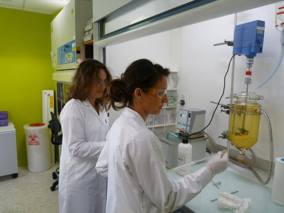 Le labo de la start-up Ecoat, spécialisée dans les peintures bio-sourcées, parmi les activités hébergées par InnovaGrasse.