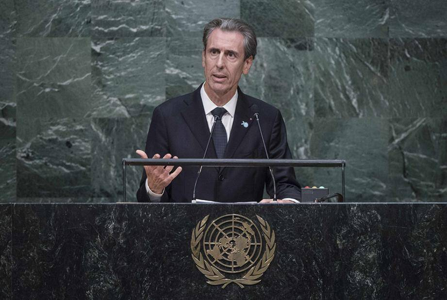 Gilles Tonelli, en octobre dernier, à la tribune de l'ONU.