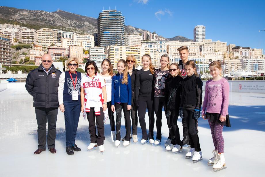 L'an dernier, les meilleurs patineurs du club ont pu participer à une Master Class en présence d'Irina Rodnina, la patineuse la plus titrée de l'histoire de ce sport.(DR)