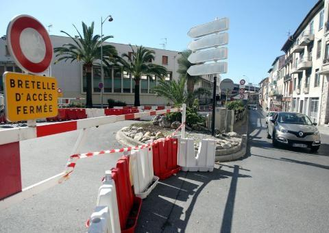 La bretelle d'accès à la voie Mathis par la rue de l'Abbé-Grégoire restera fermée jusqu'à cet été.
