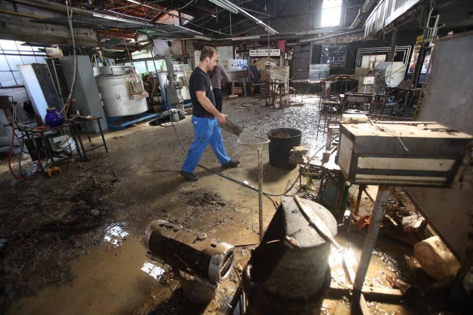 La Verrerie de Biot fait partie des nombreux commerces sinistrés lors des intempéries du 3 octobre.