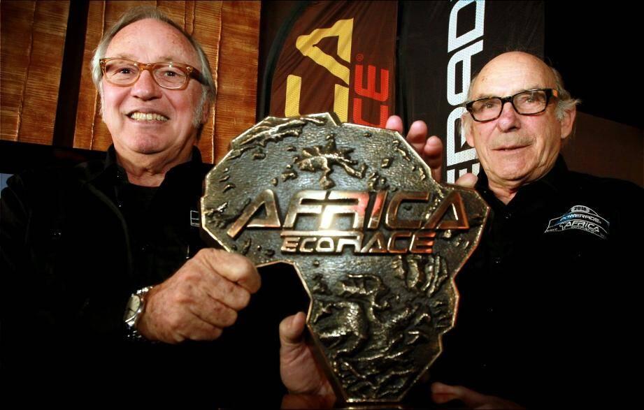 René Metge (ici à droite) : « Jean-Louis (Schlesser), c'est un super gars ! Il adore cette épreuve et se bat pour elle. »