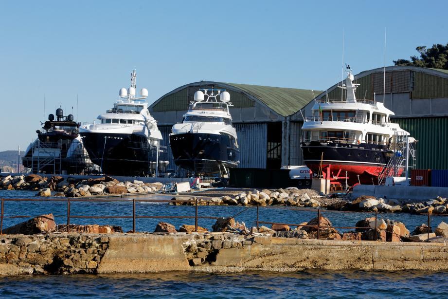 La Région mise largement sur l'entretien et la réparation navale, comme ici sur le chantier d'IMS à Saint-Mandrier.
