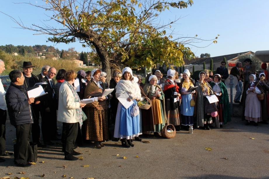 La chorale du Chant des cigales a donné de la voix.
