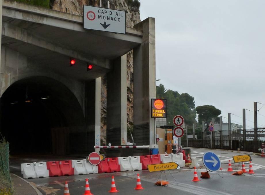Le tunnel du Cap Estel fermé, image d'archives.