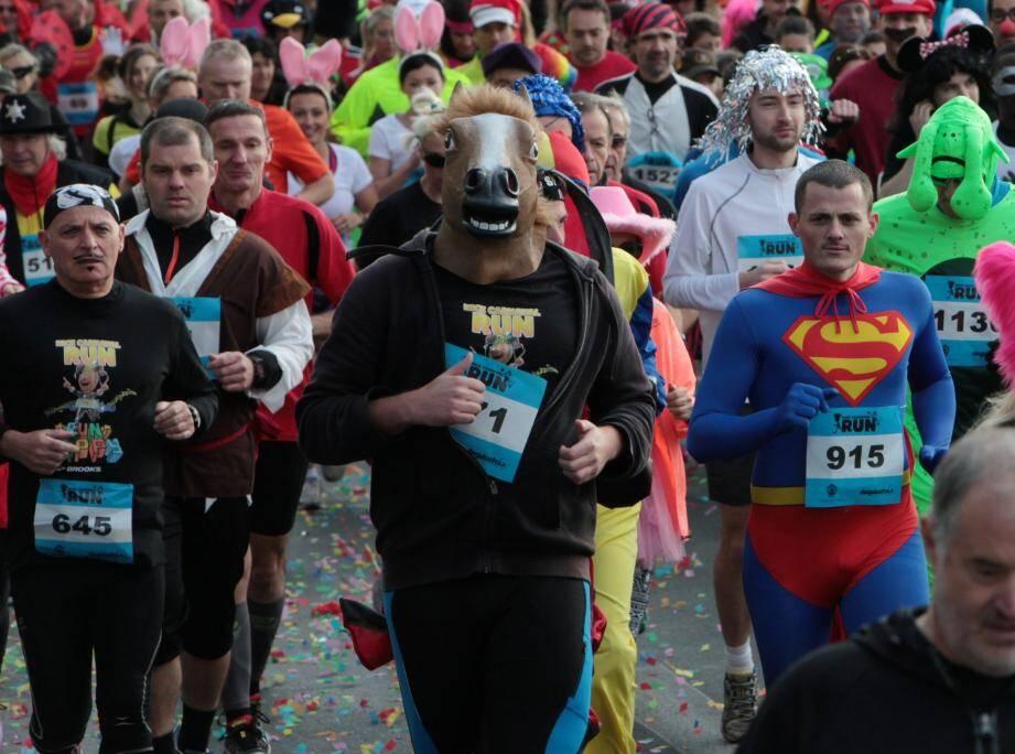 Des participants au Carnaval Run de Nice, édition 2015