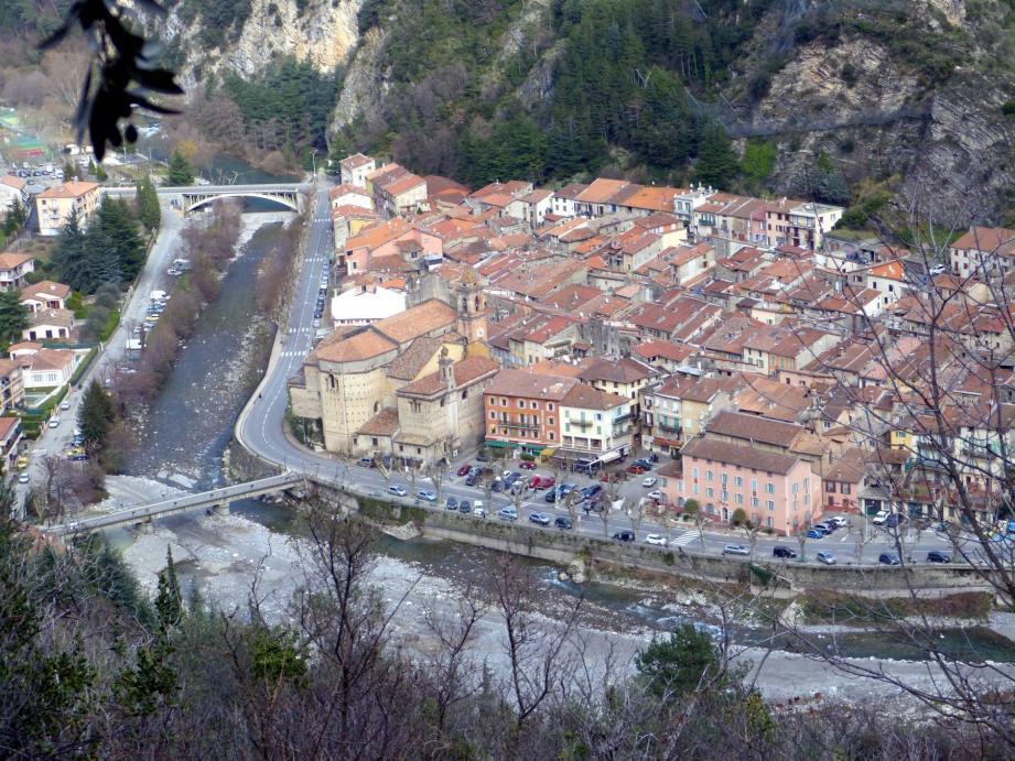 Le village de Breil-sur-Roya.