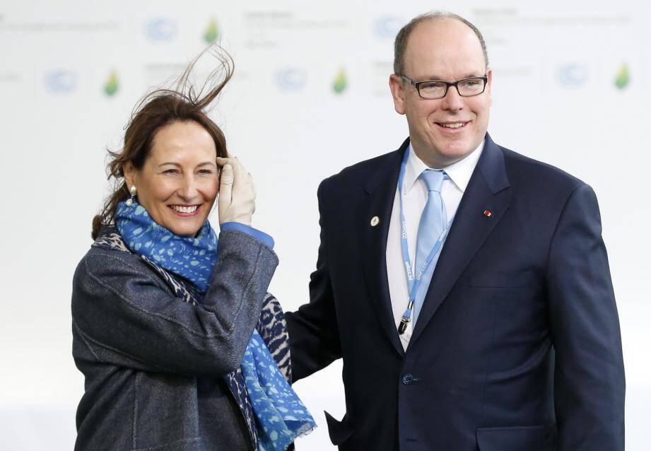 Albert II avec la ministre de l'Ecologie Ségolène Royal