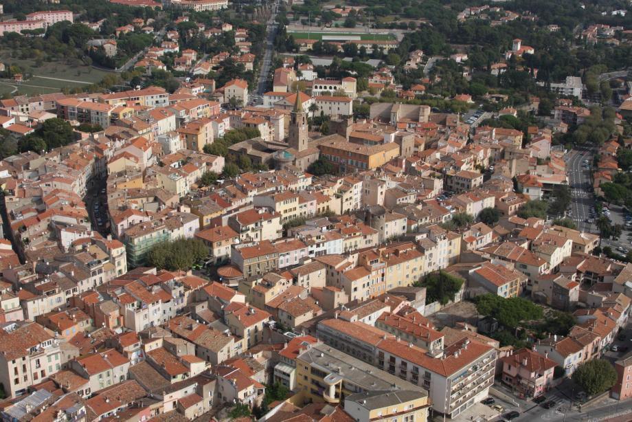 Vue aérienne de Fréjus.