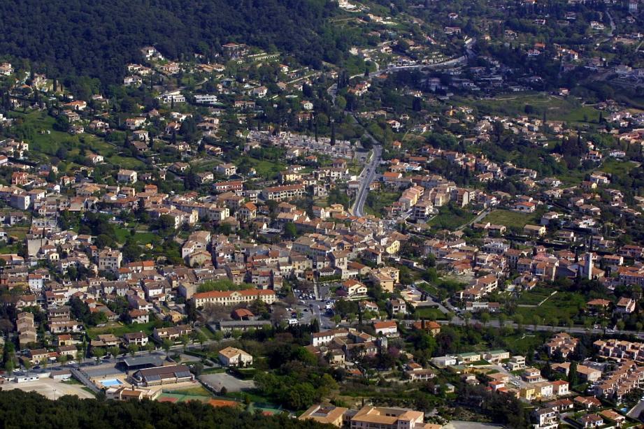 Vue aérienne de La Colle-Sur-Loup