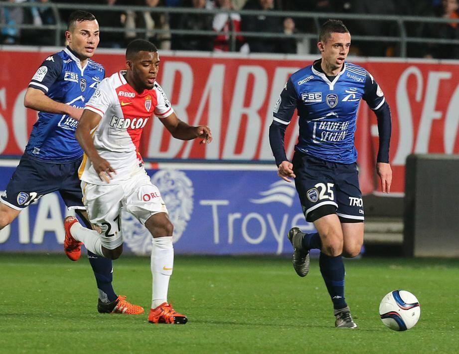 Monaco face à Troyes.