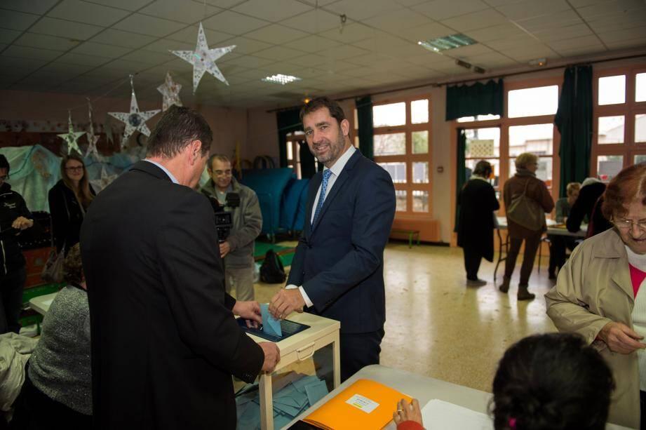 Christophe Castaner a voté à Forcalquier.