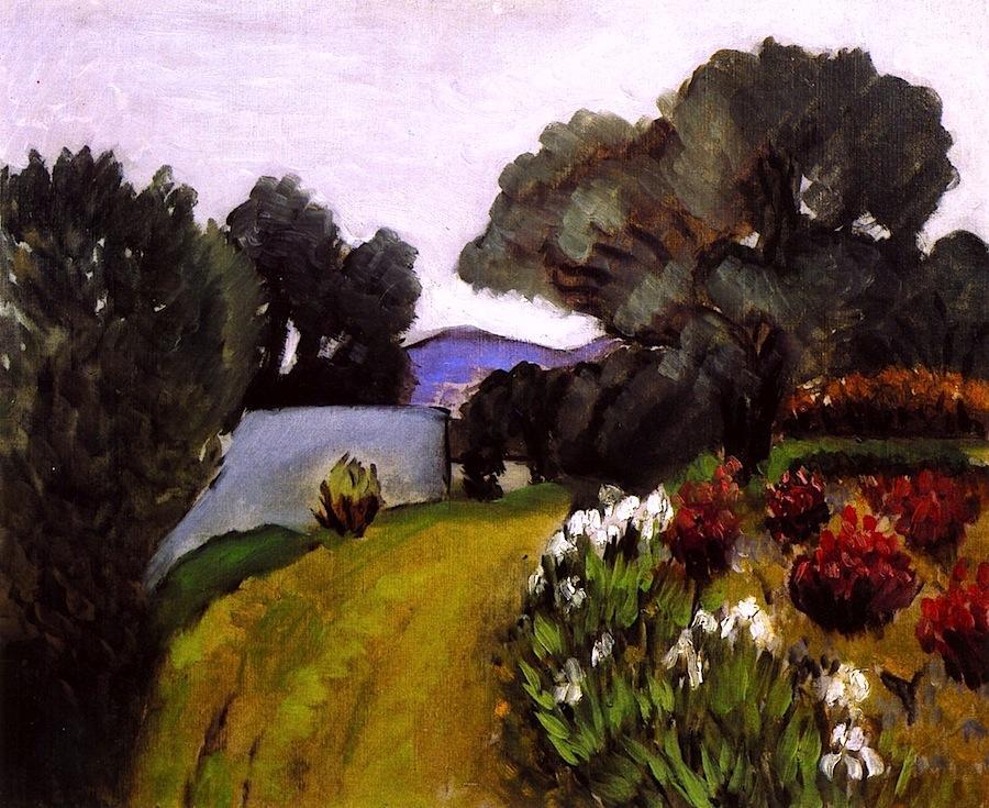 In the Nice Countryside, Garden of Irises ,Henri Matisse , 1919