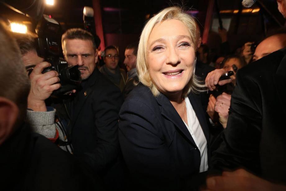 La présidente du parti d'extrême droite peut se targuer de résultats dépassant les 50 % dans certaines communes.