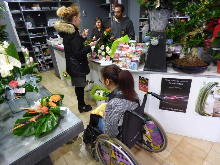 À la boutique Fleurs de la passion, avenue Victor-Tuby, l'accessibilité et une réalité depuis 2007.