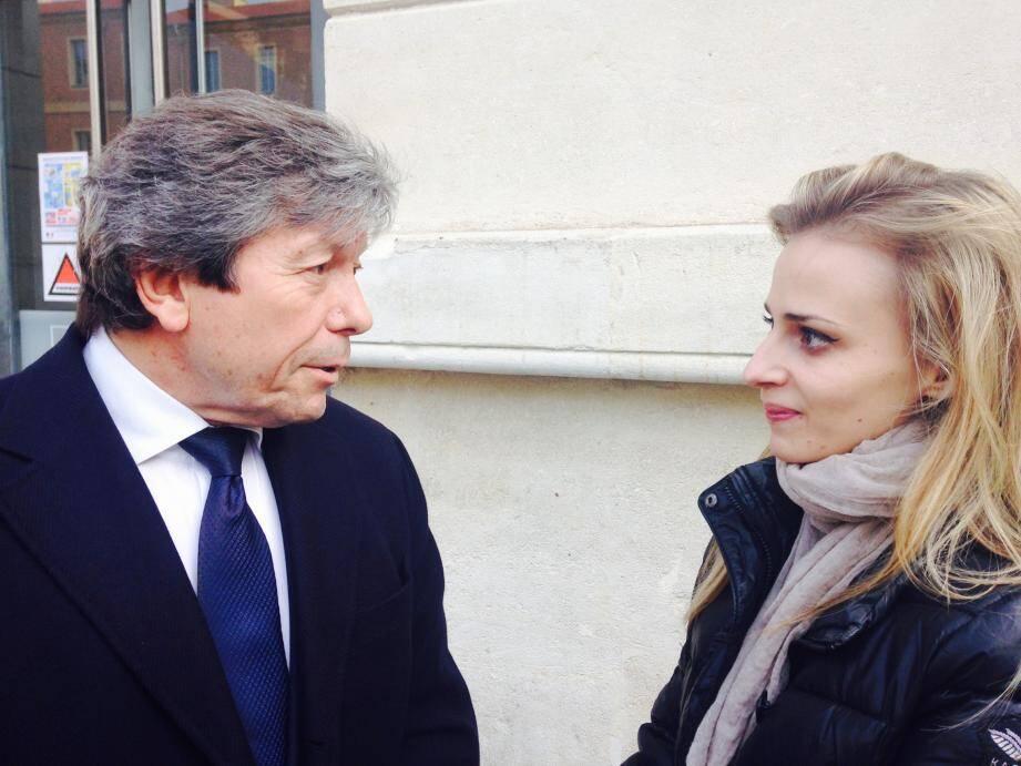 Maryline et son avocat, Me Baudoux.