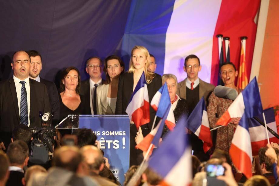 Marion Maréchal-Le Pen, hier soir, au Pontet (Vaucluse).