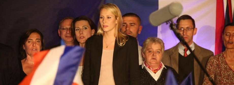 Marion Maréchal-Le Pen le soir du 1er tour des élections régionales.