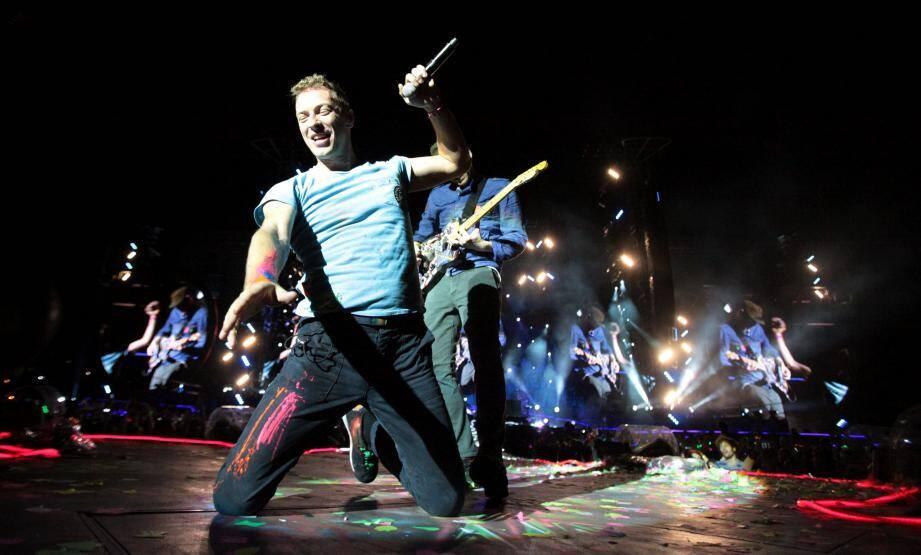 Coldplay à Nice à 2012.