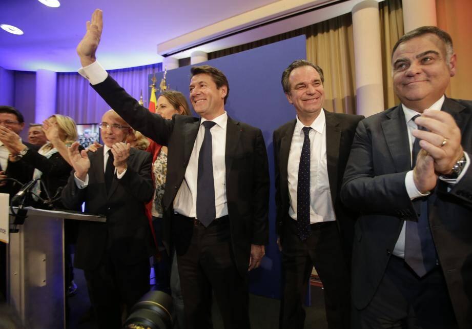 Victoire de Christian Estrosi aux éléctions régionales PACA 2015Ici à l'hotel Plaza de Nice