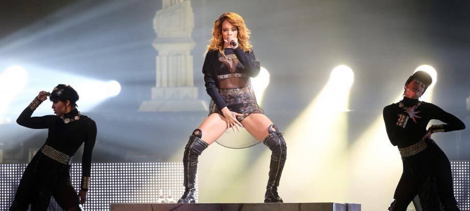 Rihanna en concert à Berlin, en Allemagne.