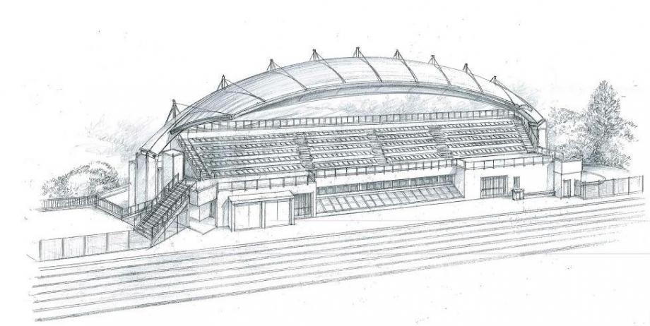 Parmi les trois projets proposés à la municipalité, c'est celui ci-dessus qui a finalement été retenu.