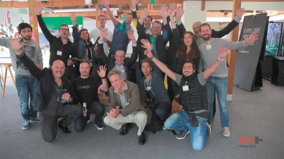 Les starts-up participant au premier Silicon Valley Camp.