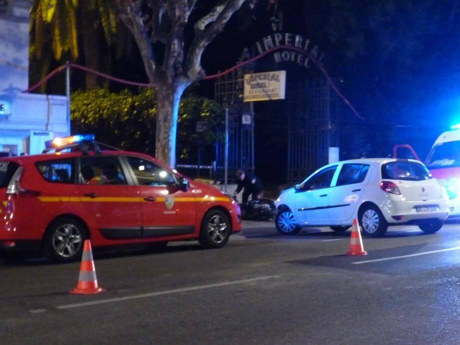 Accident boulevard Carabacel.
