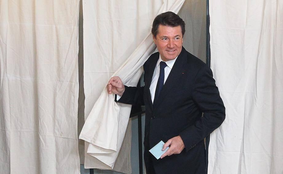 Christian Estrosi, lors du second tour des élections régionales.
