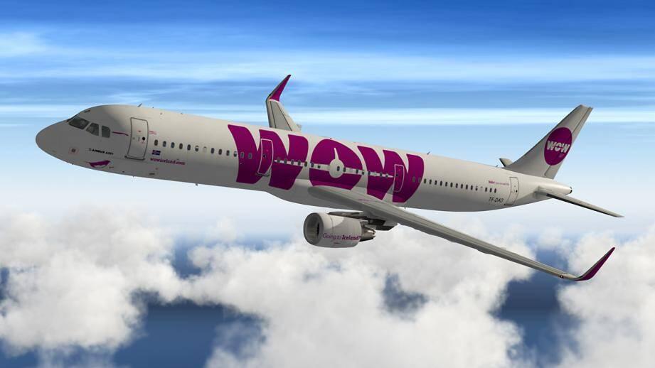 Un avion de la compagnie aérienne WOW Air.