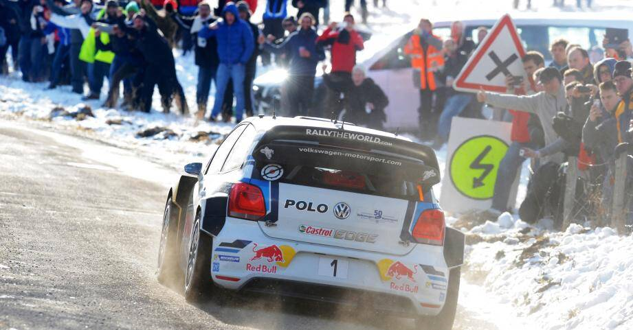 Sébastien Ogier sur les routes du Rallye Monte-Carlo.