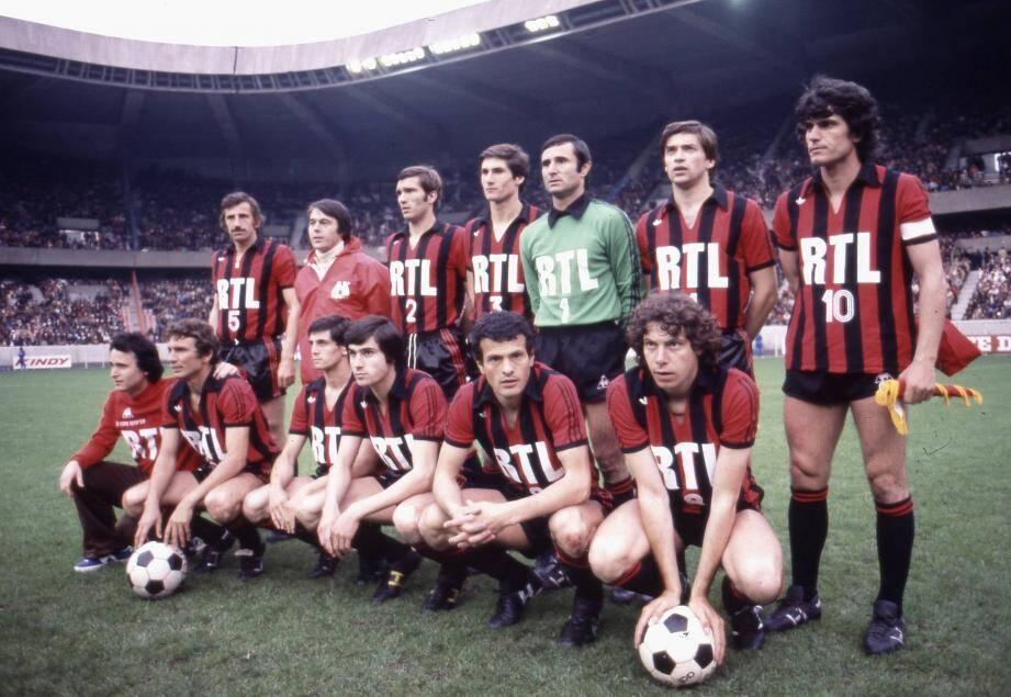 L'équipe de Nice, finaliste de la Coupe de France 1978.
