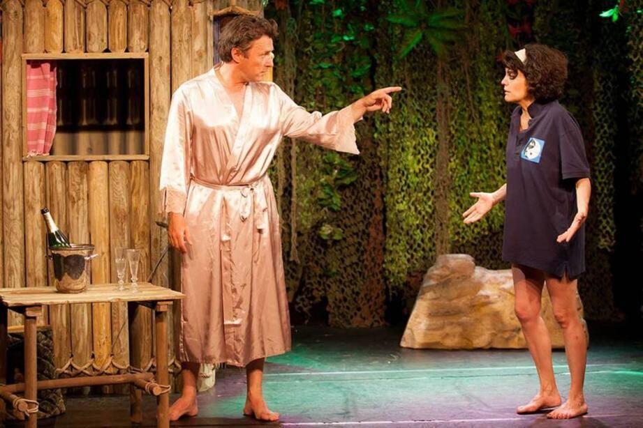 Le duo ToizéMoi présente son nouveau spectacle Paradis d'enfer, le 5 février à l'Espace de Vinci. Une comédie qui met en scène un navigateur échoué et une exilée volontaire sur une île déserte.(DR)