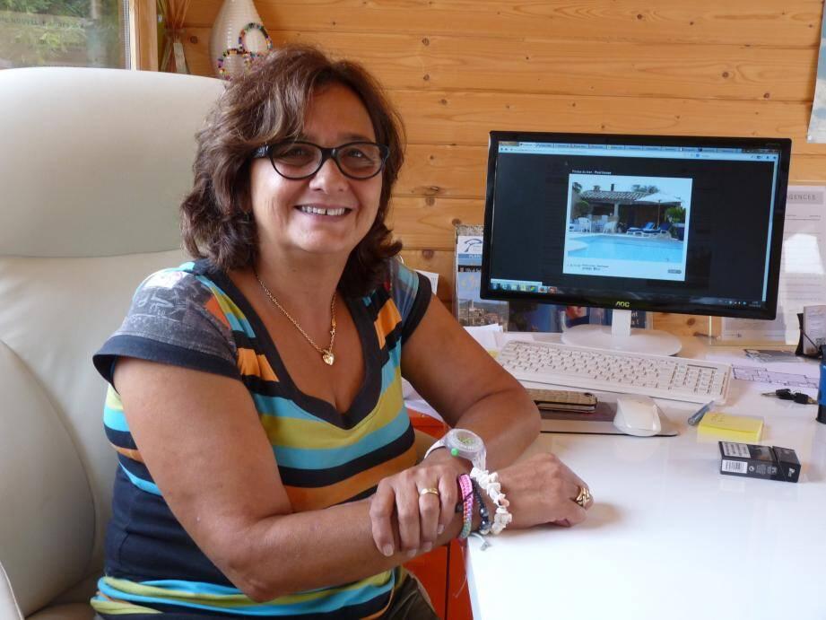 Corinne Brunet, de l'agence immobilière Manon.