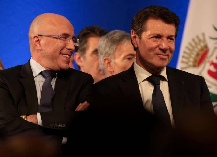 Entre Eric Ciotti et Christian Estrosi, ce n'est plus la franche rigolade, même si les apparences restent sauves : seul le second est candidat à la présidence des Républicains des Alpes-Maritimes.