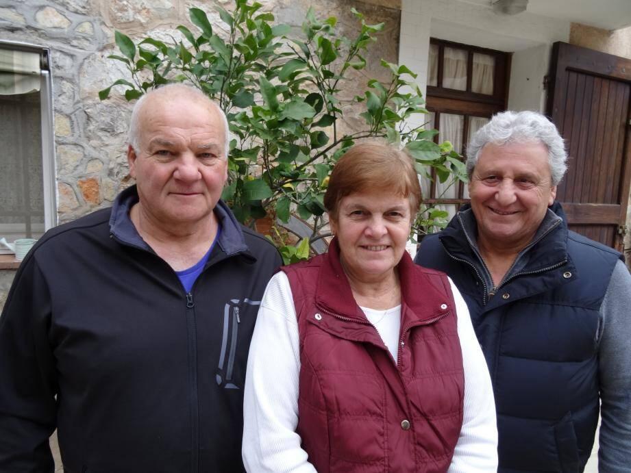 Trio de choc à la tête du Ski Club avec de gauche à droite Roger Robba (président), Michèle Berry (secrétaire) et Gaspard Pappalardo (vice-président).