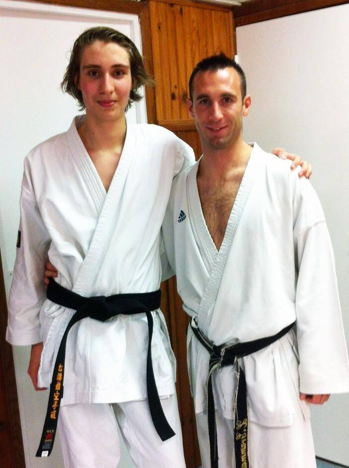 Arthur Cantournet (à gauche) et son professeur, Xavier Grammatico. (D.R.)