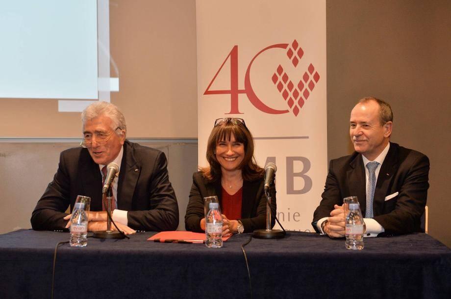 En prélude de la présentation de l'agenda hier, le Grimaldi Forum a renouvelé son partenariat financier avec le Compagnie Monégasque de Banque.