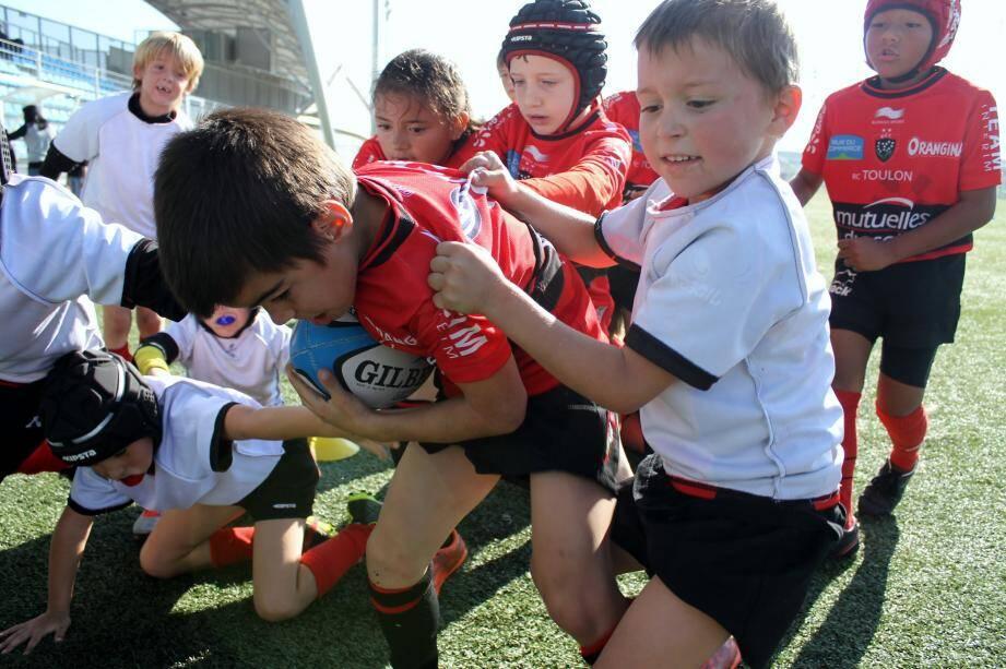 Au rugby, et déjà en U8, c'est les copains d'abord.