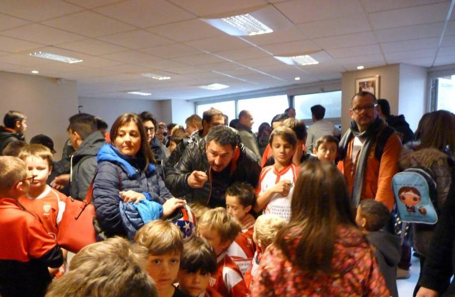 Il y avait foule à l'occasion de cette matinée de festivités qui regroupait toutes les catégories de l'école de rugby de l'ASM.