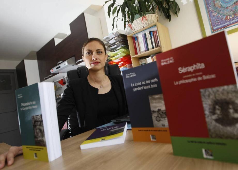 Maryline Martinol a abandonné l'enseignement pour vivre de sa passion des livres.