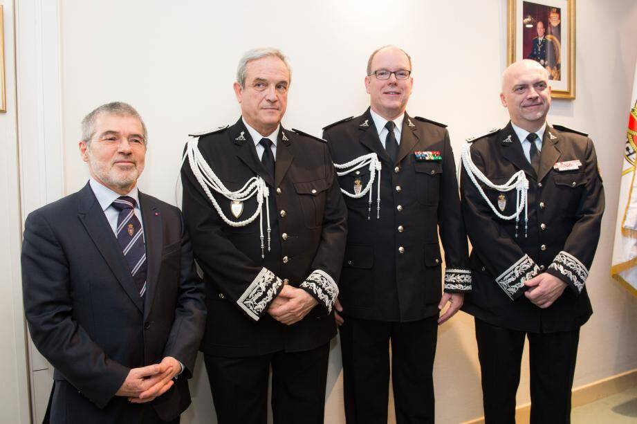 Richard Marangoni (à droite sur l'image) est le futur directeur de la Sûreté publique.