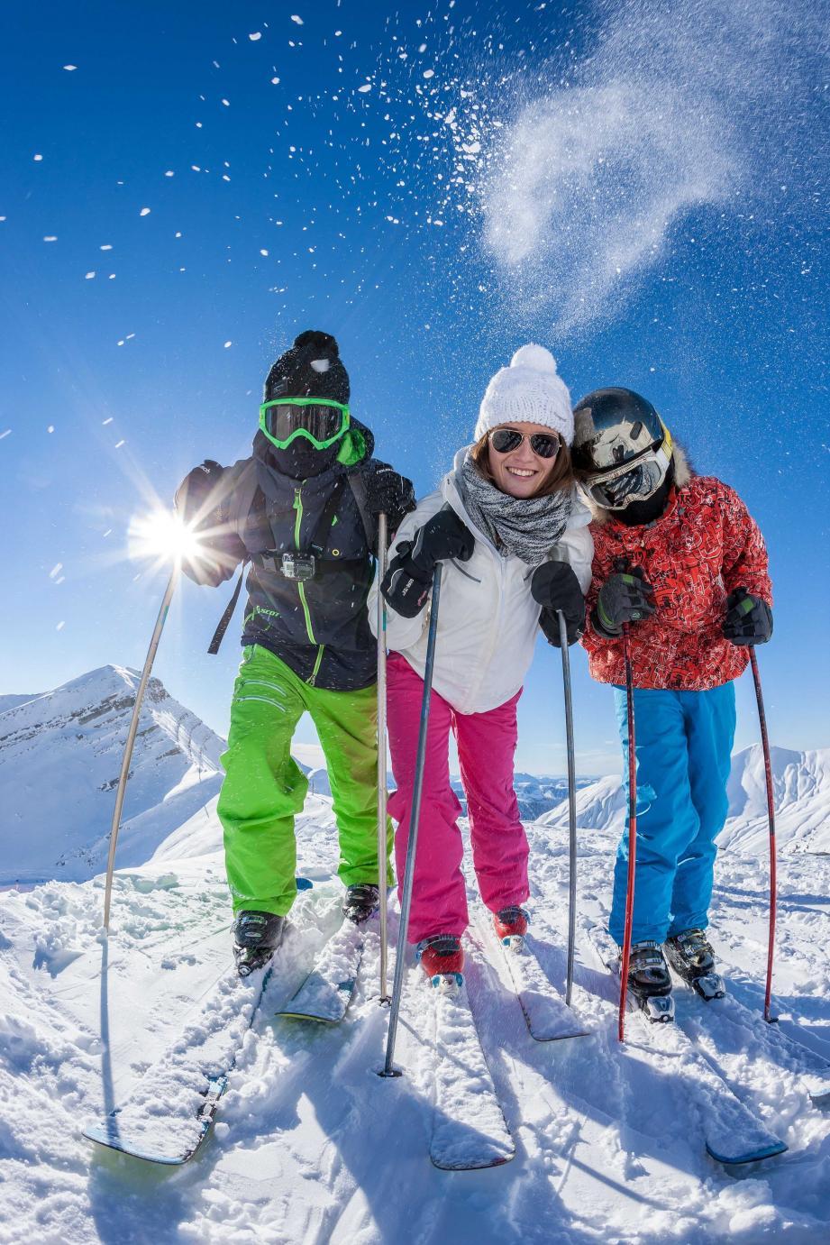 Ce week-end on ski en famille sur les pistes du Val d'Allos.