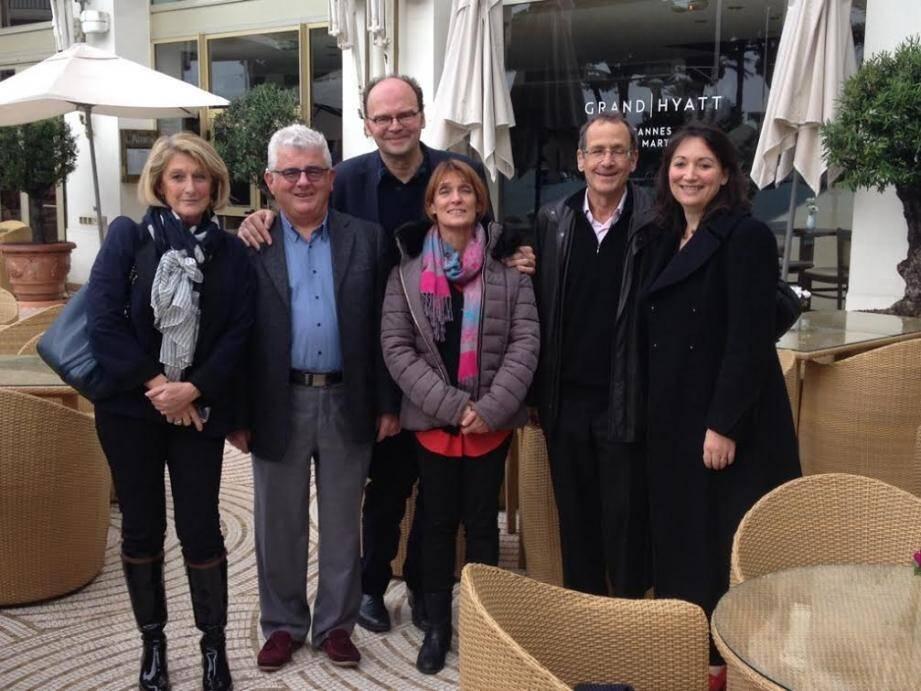 L'équipe de Cannes Cinéma et Cannes Bel âge ont accueilli Jean-Pierre Améris et les représentants de l'ARDDS au restaurant Le Relais du Martinez.