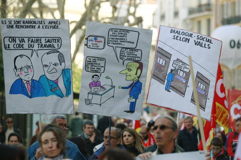 Dans les rangs des manifestants à Nice, le sentiment de lassitude palpable hier.