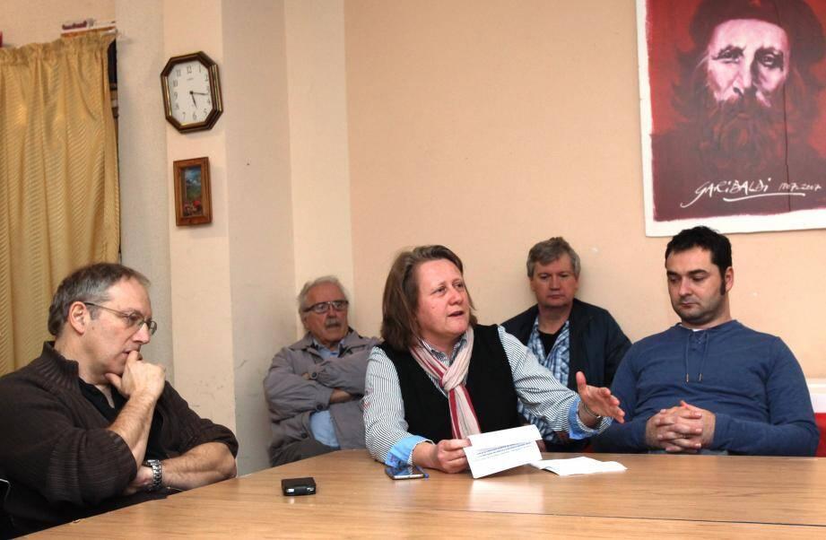 Cécile Dumas a présenté des vœux combatifs, hier après-midi à Nice.