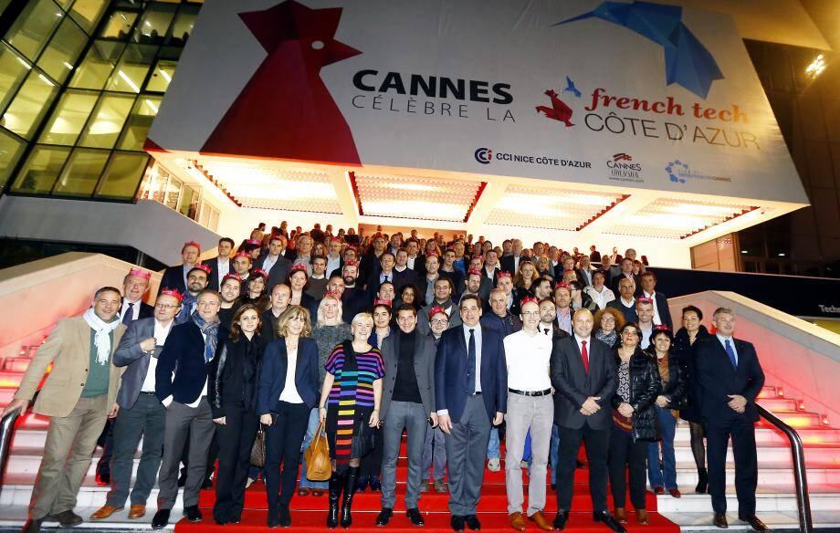 Les rois et reines de la French Tech Côte d'Azur ont eu le droit à leur montée des marches, vendredi soir.